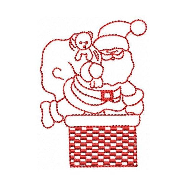 Papai Noel Redwork 001