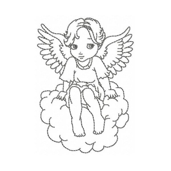 Anjinhos Redwork Angelus