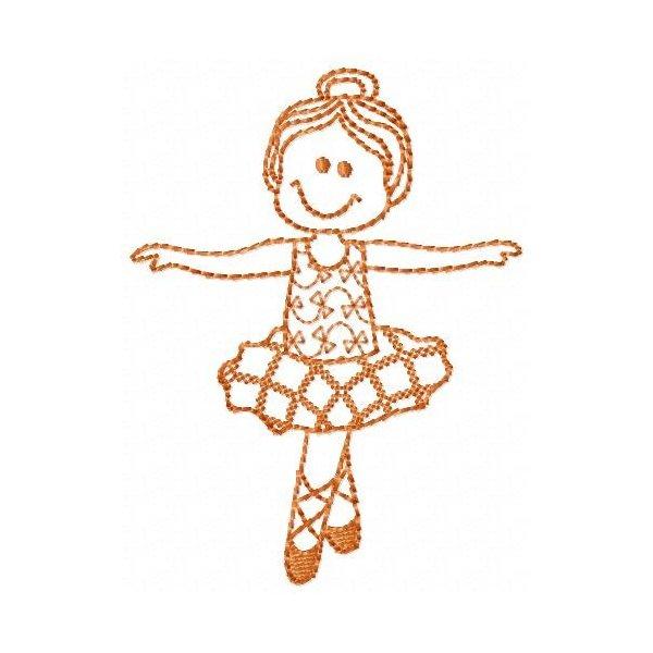 Bailarina Foffys Redwork