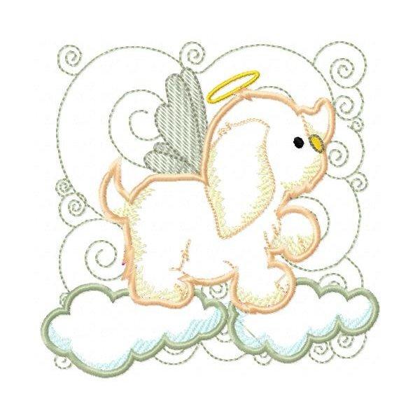 Filhotinhos Anjos Aplique