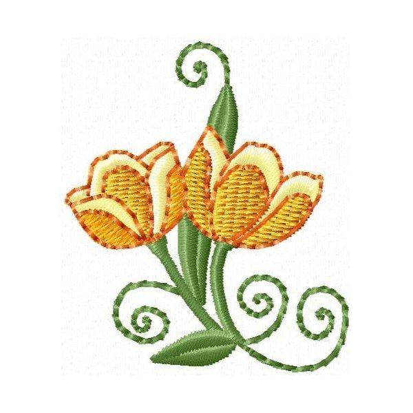 Floral Esboço 001