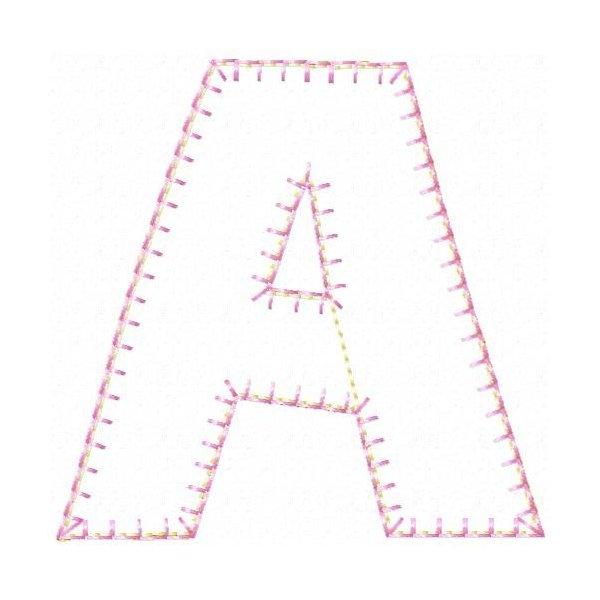 Alfabeto Estrelar Aplique