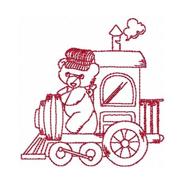 Trenzinho Redwork 01