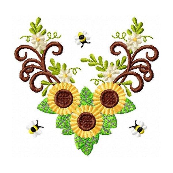 Floral Girassol Bee