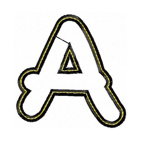 Alfabeto Aplique Black Maiúsculo
