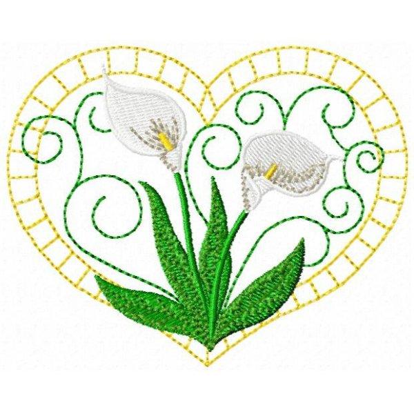 Copo de Leite Floral Wite