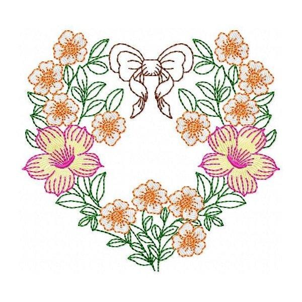 Corações Florais 002