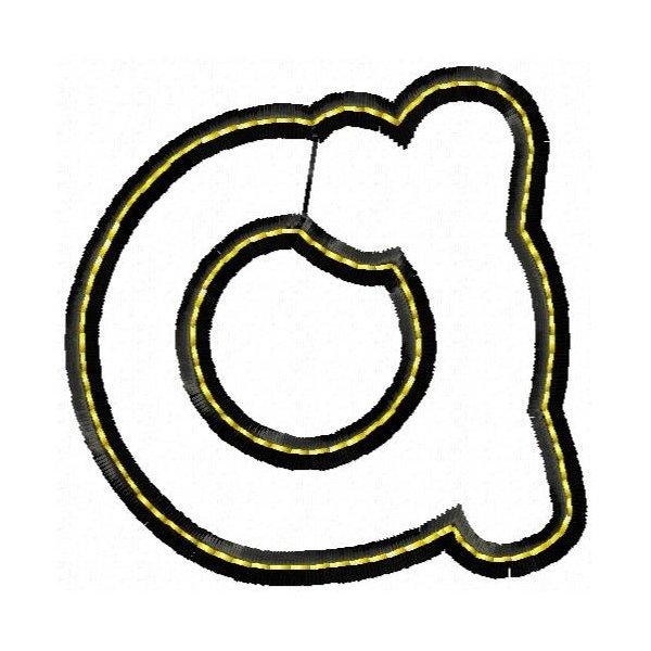Alfabeto Aplique Black Minúsculo