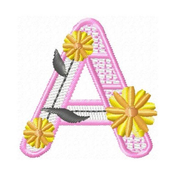 Alfabeto Pink Flower
