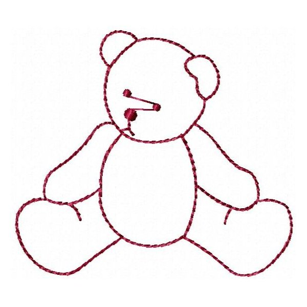 Ursinhos Bear Redwork 01