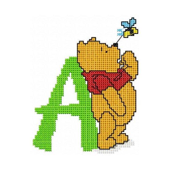 Alfabeto Pooh Ponto Cruz