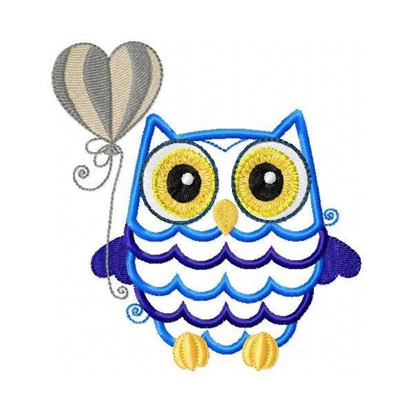 Coruja Baby Owl Aplique