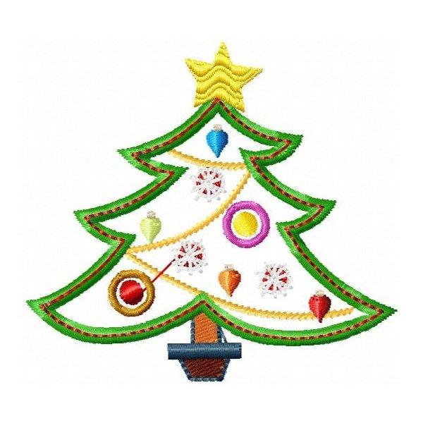 Arvore de Natal Aplique
