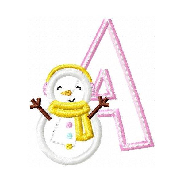 Alfabeto Aplique Neve
