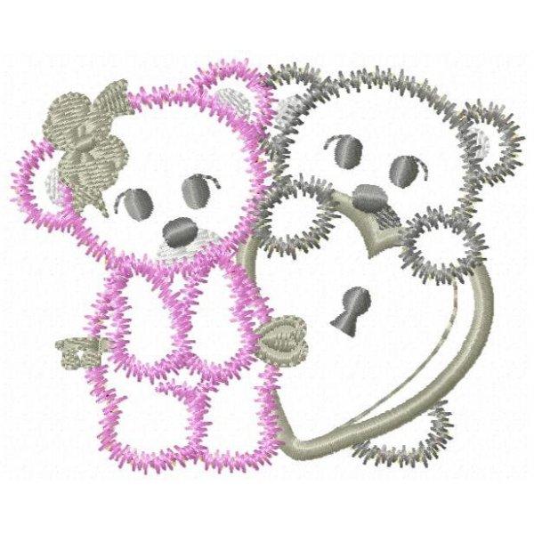 Urso Romance Aplique