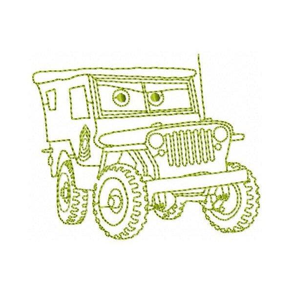 Redwork Carros 6