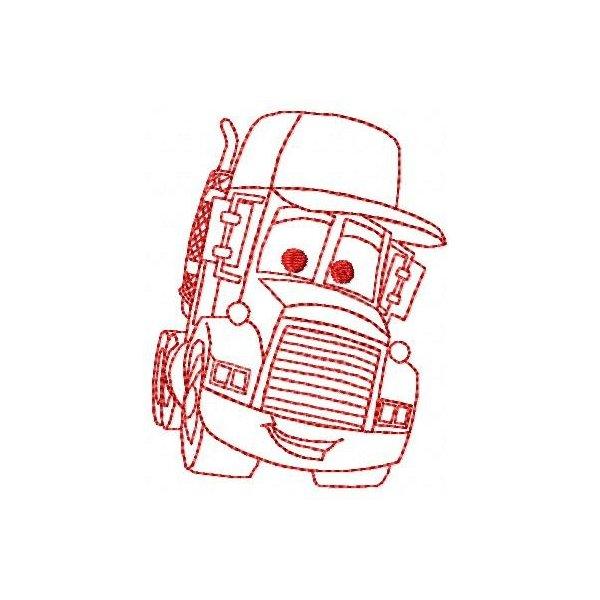 Redwork Carros 7
