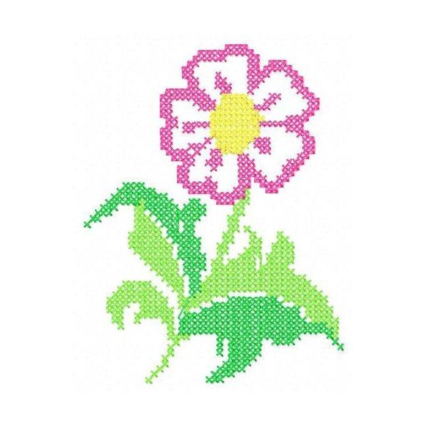 Floral Ponto Cruz 1