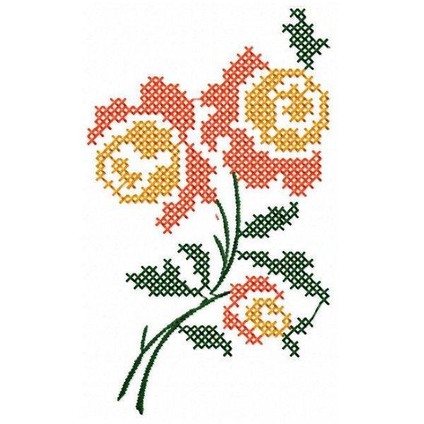 Floral Ponto Cruz 3
