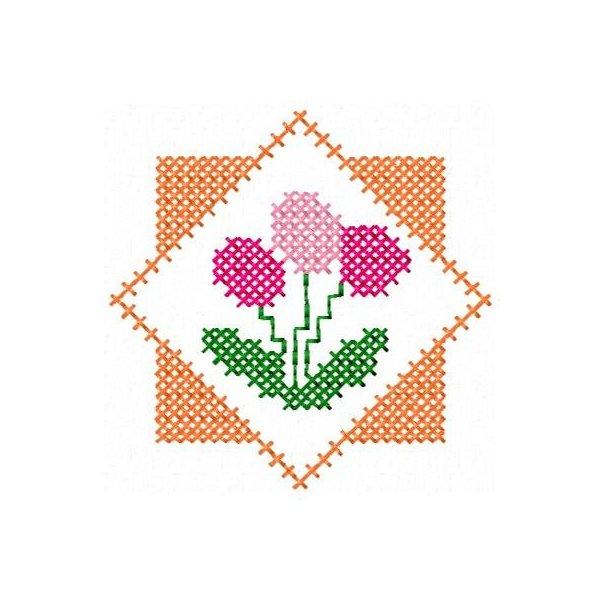 Floral Ponto Cruz 4
