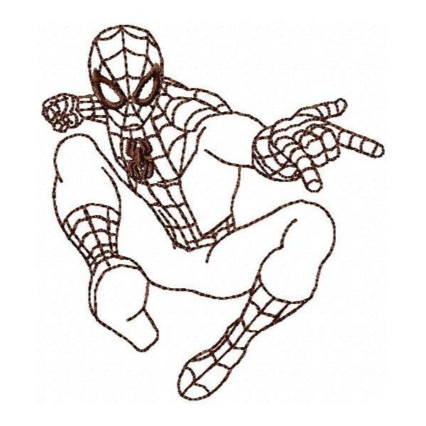Homem Aranha Redwork 1
