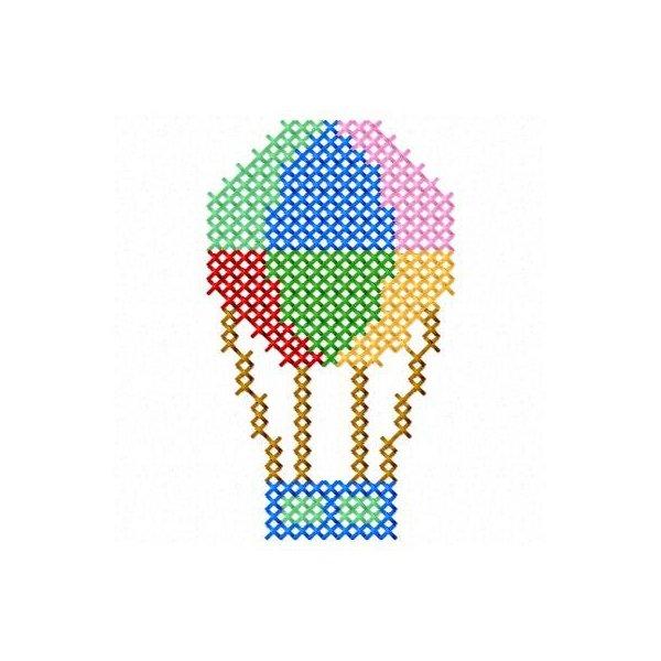 Balão ponto cruz 1