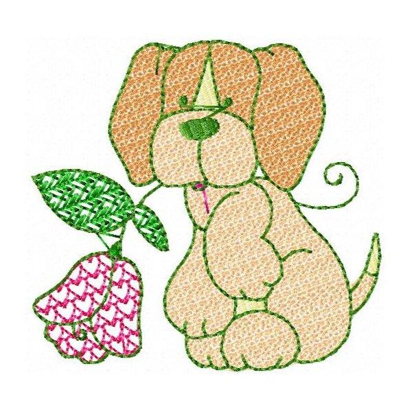 Cãozinho E Flor