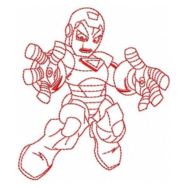 Homem de Ferro Redwork 1