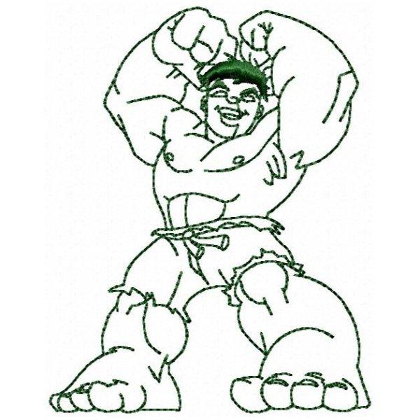 Incrível Hulk Redwork 1