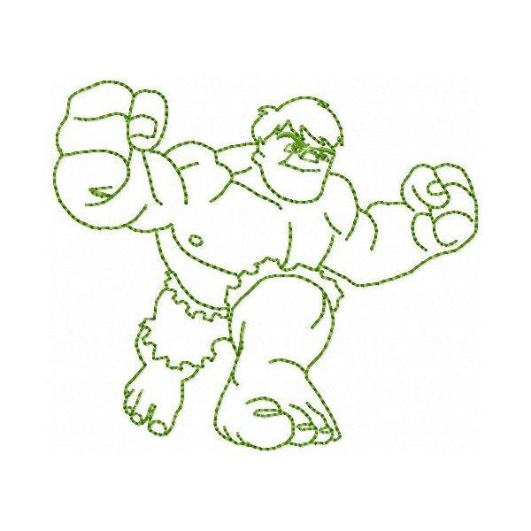Incrível Hulk Redwork 2