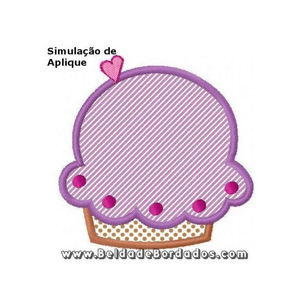 Cupcake Aplique 2 (MATRIZ GRÁTIS)