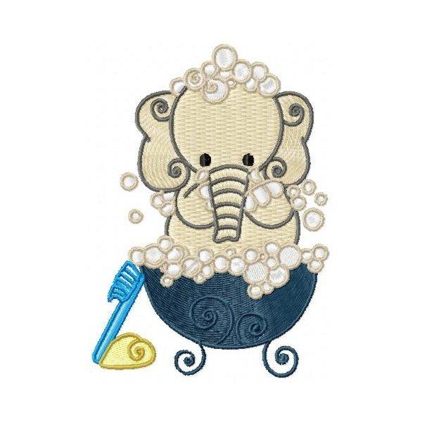 Elefante Hora Do Banho