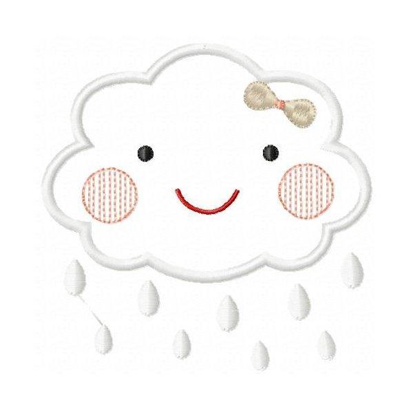 Nuvem Cute Aplique 01