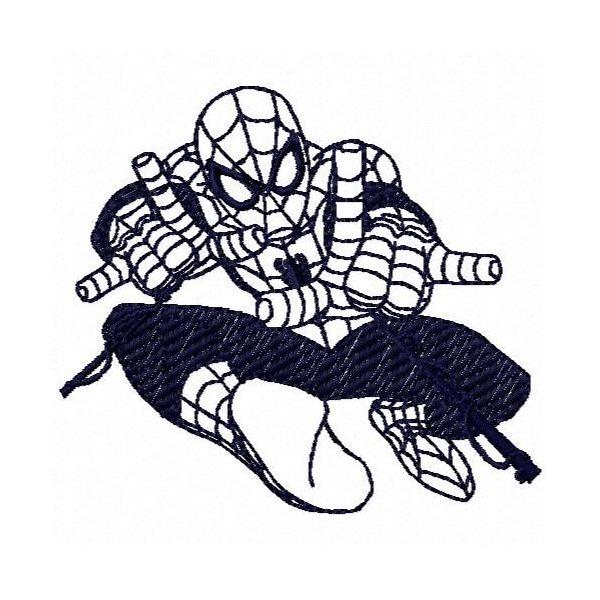 Homem Aranha Redwork 2