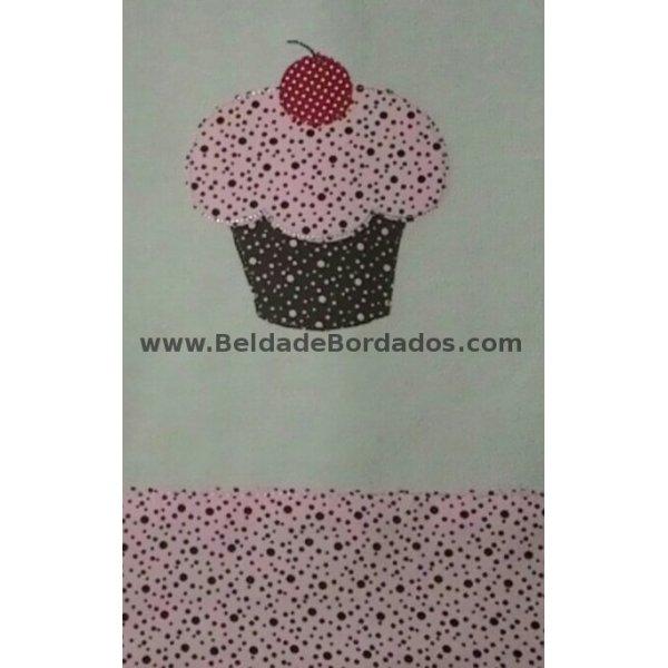 Aplique Rústico Cupcake 1