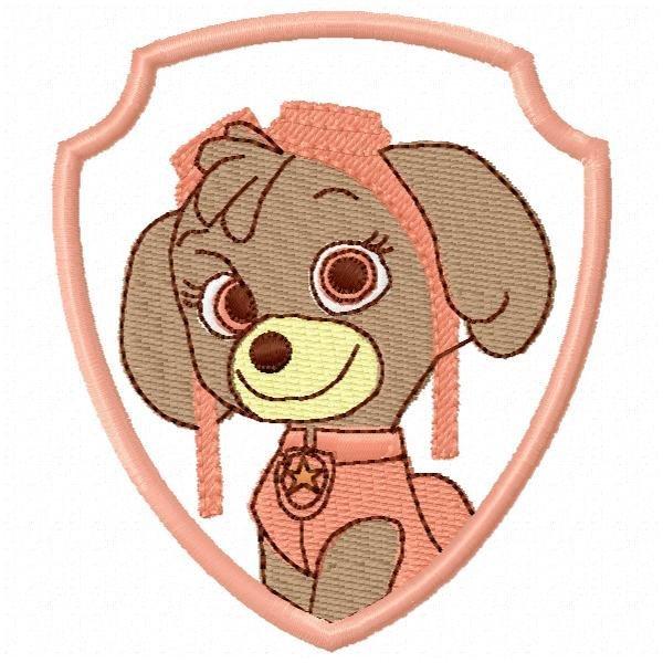 Patrulha Canina 1 Skye Aplique