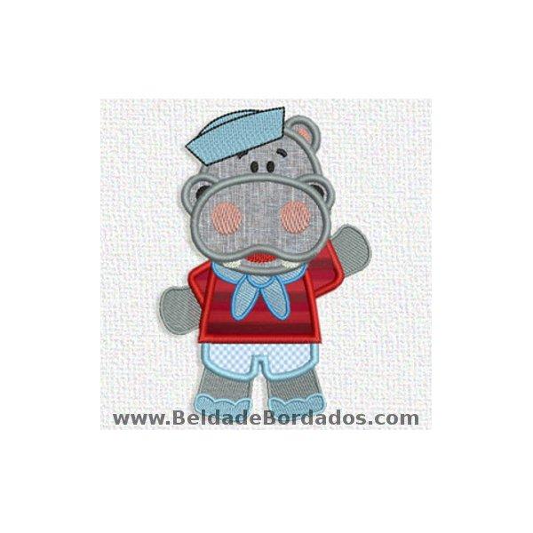 Hipopótamo 1 Aplique