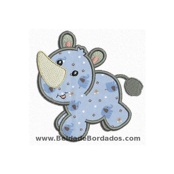 Rinoceronte 1 Aplique