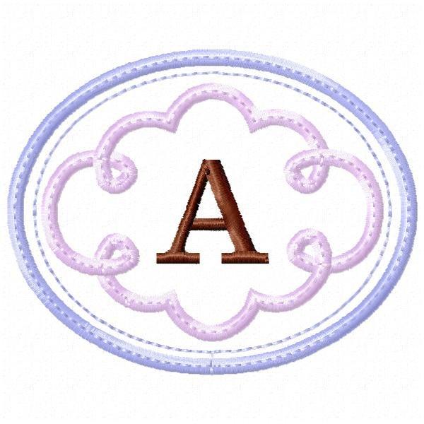 Alfabeto Nuvem Aplique 01