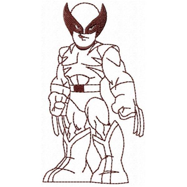 Wolverine Redwork 1