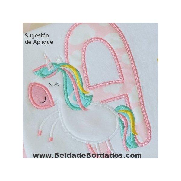 Alfabeto Unicornio Aplique 01