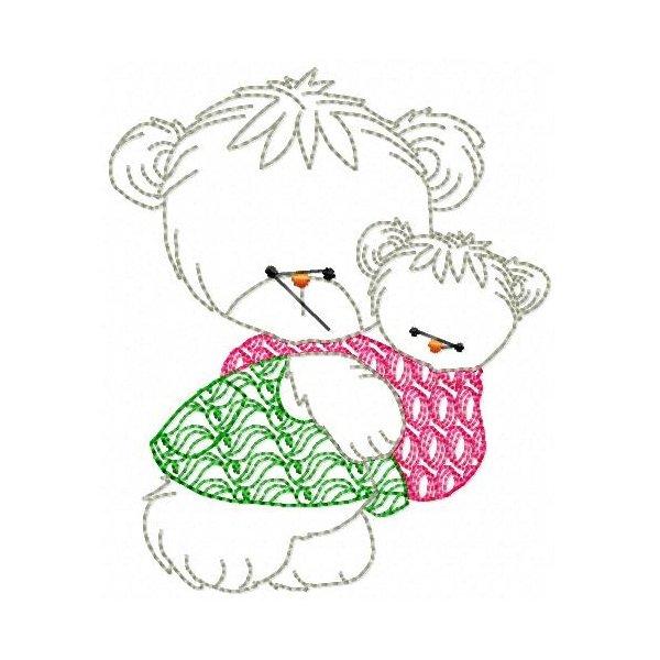 Mamãe E Bebê Urso