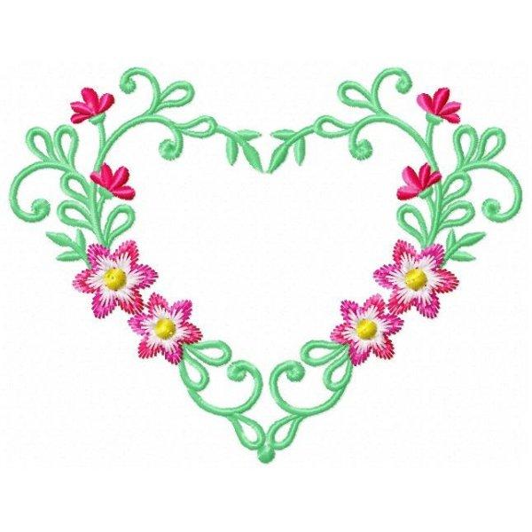 Corações Florais 003