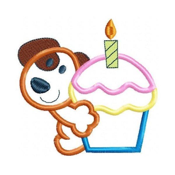 Cupcake Bichinho Aplique 001
